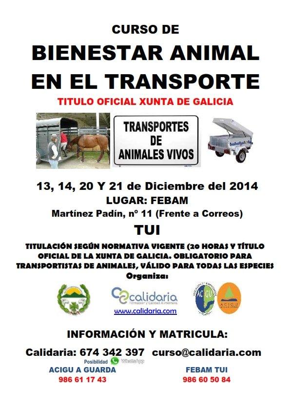 Beliebt Cursos de Bienestar Animal en el Transporte, la Explotación y la  FB39