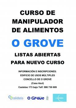 Curso de Manipulador de Alimentos elorganizado por el Concello de O Grove - LISTAS ABIERTAS