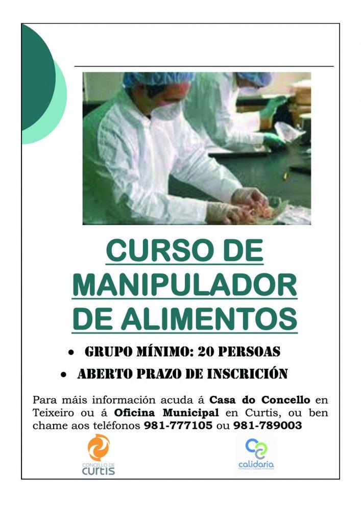 Listas abiertas para el Curso de Manipulador de Alimentos en Curtis, A Coruña